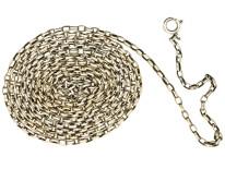 Victorian Long Silver Guard Chain