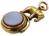 Victorian 15ct Gold Swivel Seal With an Elephant on Top
