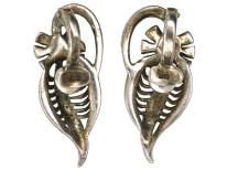 Art Deco Silver & Marcasite Clip On Earrings