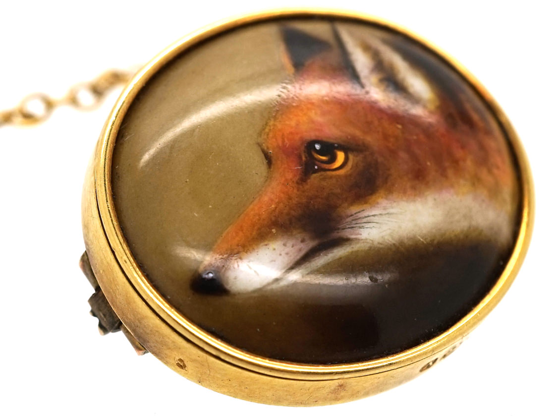 Victorian 15ct Gold Brooch of a Fox Head by Ford