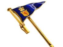 Edwardian 15ct Gold Royal Clyde Yacht Club Burgee Tie Pin