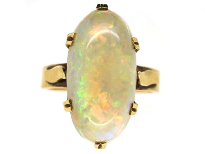 10ct Gold Large Opal Ring