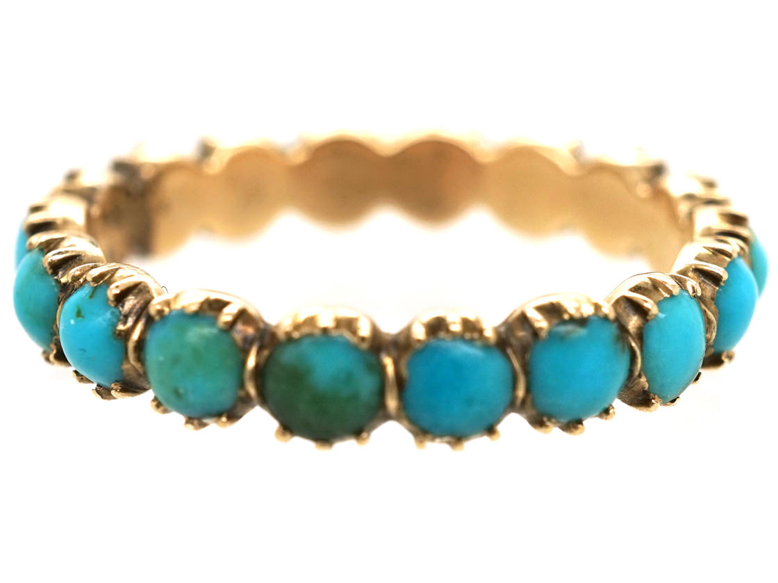 Georgian 15ct Gold & Turquoise Eternity Ring