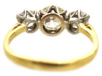 18ct White & Yellow Gold Three Stone Diamond Ring