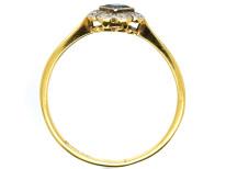 Art Deco 18ct Gold, Platinum, Sapphire & Diamond Ring
