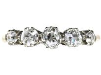 18ct Gold, Platinum Five Stone Diamond Ring