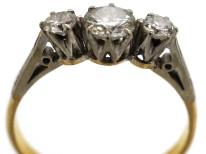 18ct & Platinum, Three Stone Diamond Ring