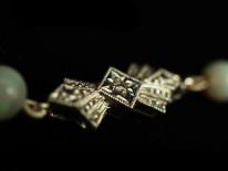Opal bead & Rock Crystal Necklace