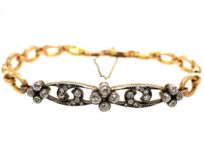 Edwardian 18ct Gold & Diamond Bracelet