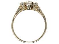 Edwardian 14ct White Gold Three Stone Diamond Ring