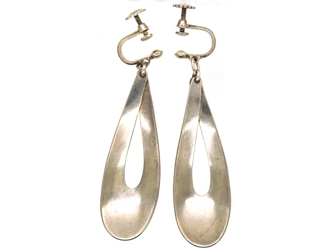 Silver & Enamel Earrings by Tostrup