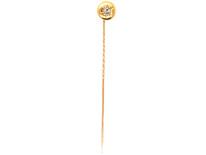 Victorian 18ct Gold & Diamond Round Tie Pin