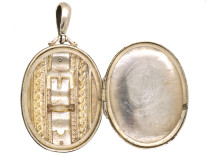 Victorian Silver Locket With Buckle Motif