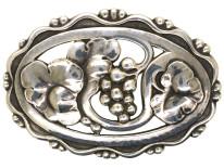 Retro Silver Flower Brooch by Georg Jensen