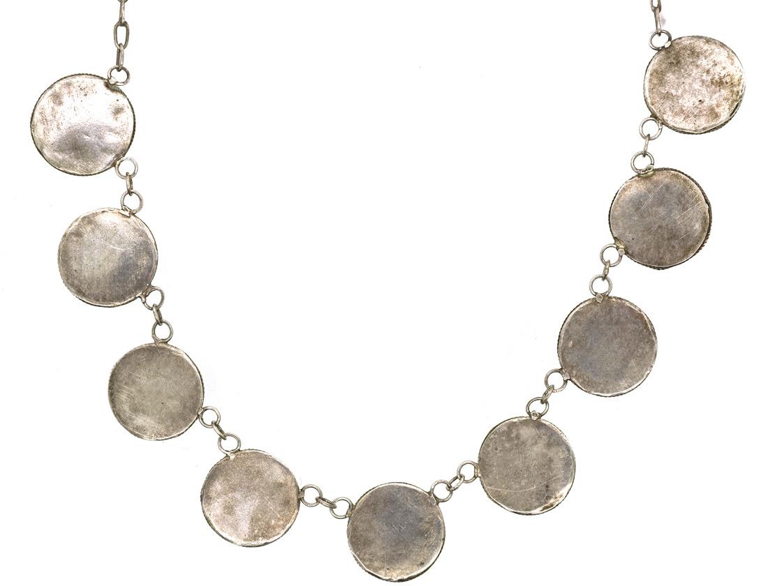 Art Deco Silver & Amazonite Necklace