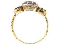 Georgian 18ct Gold, Diamond & Emerald Ring