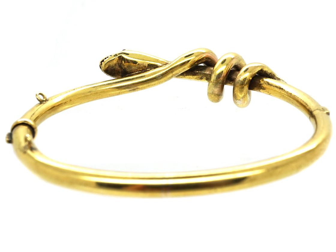 Victorian 15ct Gold Snake Bangle