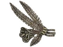 Silver & Marcasite Flower Brooch