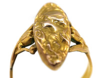French Rolled Gold Art Nouveau Ring