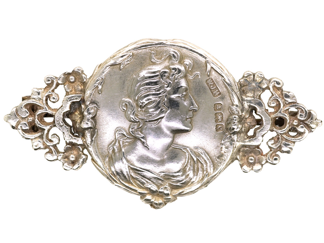 Art Nouveau Silver Brooch by William James Holmes