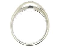 Art Deco French Platinum & Single Stone Diamond Ring