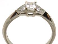 18ct White Gold & Diamond Three Stone Ring