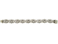Silver & Paste Flower Motif Bracelet