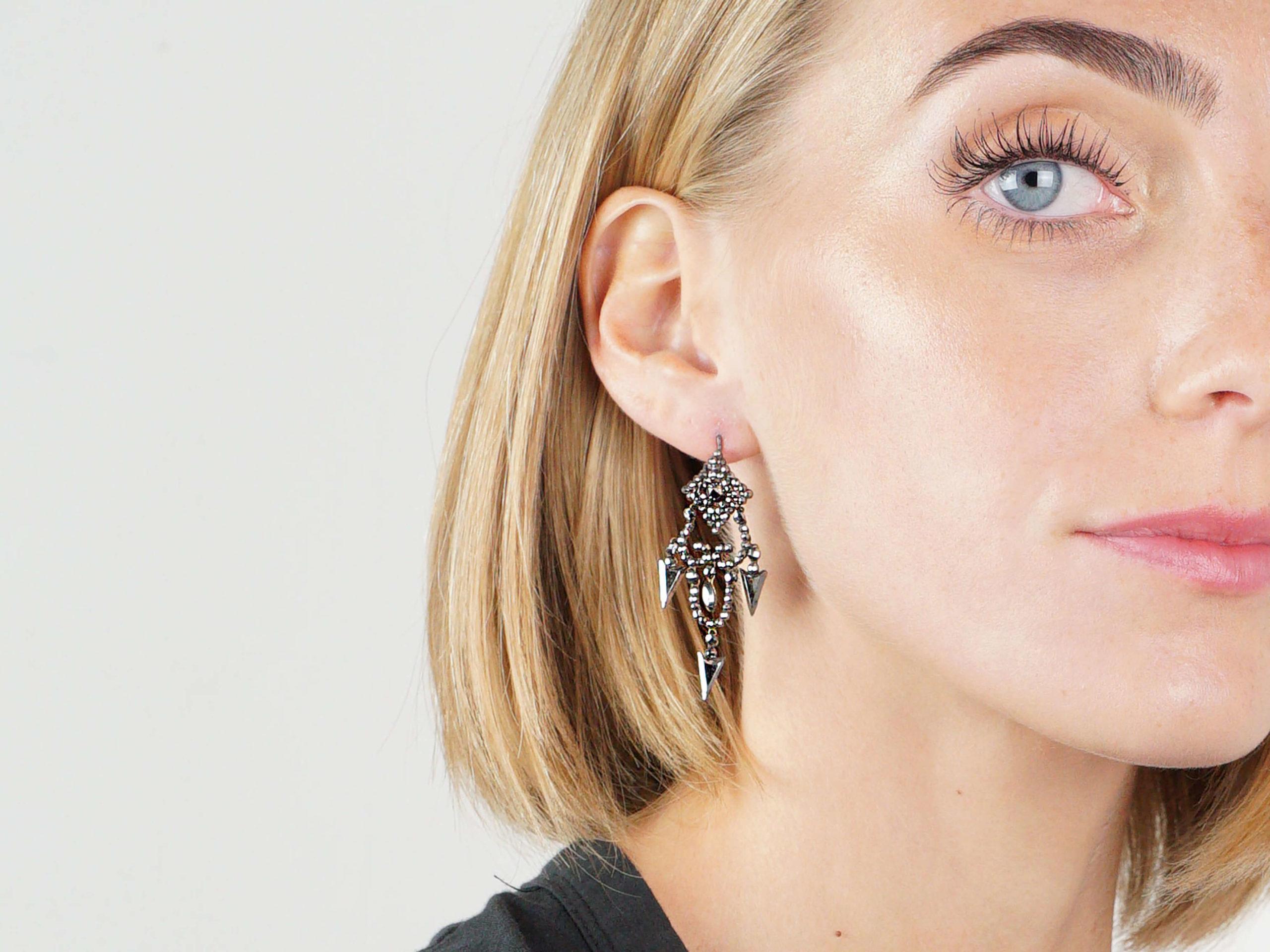 Georgian Cut Steel Drop Earrings