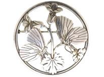 Silver Moonlight Blossom Brooch by Arno Malinowski for Georg Jensen