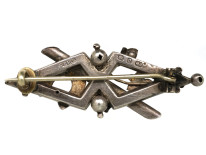 Victorian Silver & Two Colour Gold Overlay Lucky Horse Shoe Brooch