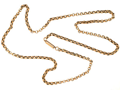 Edwardian 9ct Gold Chain (50cm)