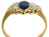 Edwardian 18ct Gold & Platinum, Sapphire & Diamond Ring