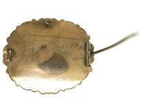 Victorian 15ct Gold Memorial Brooch