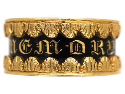 Early Victorian 18ct Gold Memorial Ring