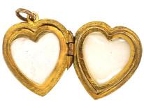 Edwardian 9ct Back & Front Heart Locket