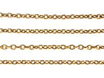 Edwardian 9ct Gold Chain (62cm)