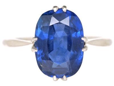 Art Deco Platinum & Sapphire Ring