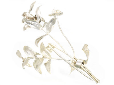 Victorian Silver Lily Brooch