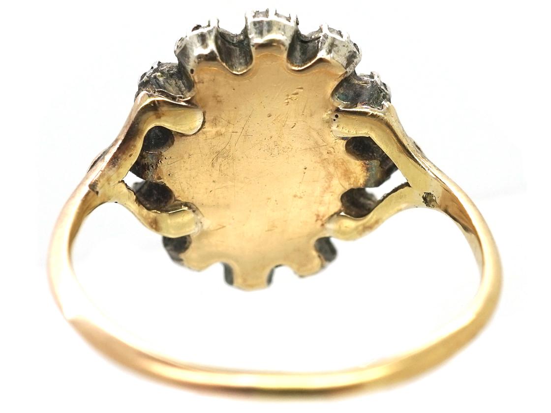 Georgian Rose Diamond Cluster Ring