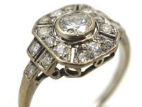 Art Deco 18ct White Gold Diamond Ring