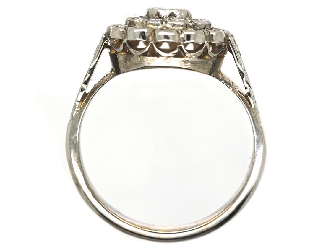 18ct White Gold Diamond Set Cluster Ring