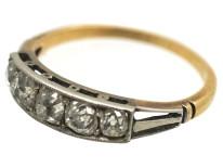 Art Deco 18ct Gold & Platinum Five Stone Diamond Ring