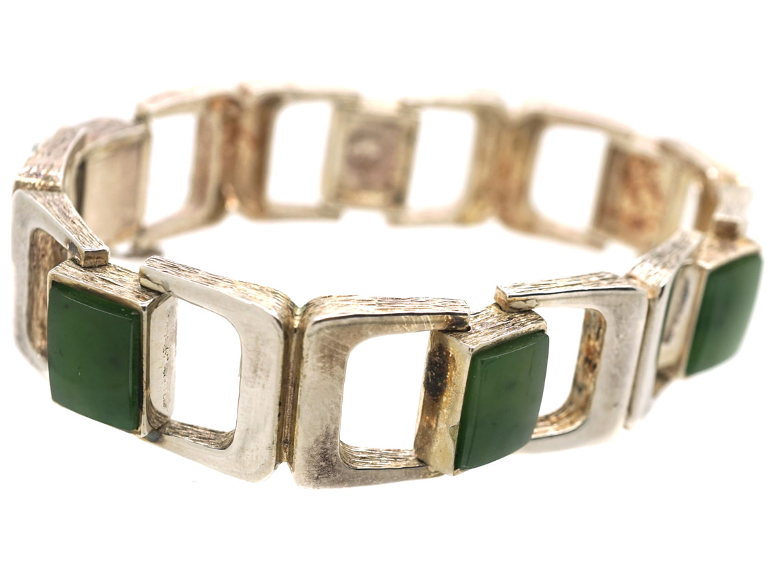 Silver & Jade Bracelet