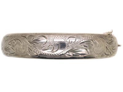 Silver Engraved Bangle