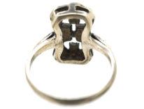 Art Deco Silver & Marcasite Ring