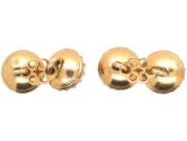 Early Georgian 15ct Gold & Smoky Quartz Cufflinks