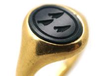 18ct Gold & Bloodstone Intaglio Signet Ring