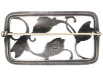 Silver Flower Brooch by Georg Jensen