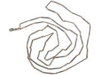Edwardian Silver & Niello Guard Chain