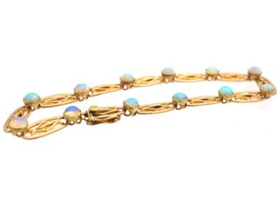 Edwardian 15ct Gold & Opal Bracelet
